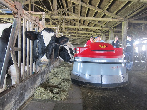 The application of robotic feed pusher with a WIFI vision system on the dairy farm